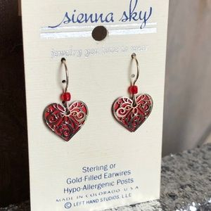 Sienna Sky Hypo-allergenic Dangly Heart Earrings